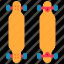 skateboard, sport, extreme, longboard, deck, hobby icon