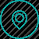 area, arrow, direction, map, pin, pointer, skateshop icon