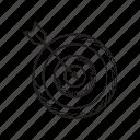 arrow, bow, dart, focus, game, goal, target icon