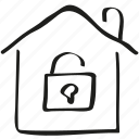 house, lock, safe, secure icon icon