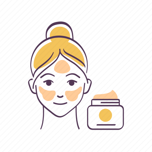 Avatar, cosmetic product, face, moisturizing, sketch, skin care, woman icon - Download on Iconfinder