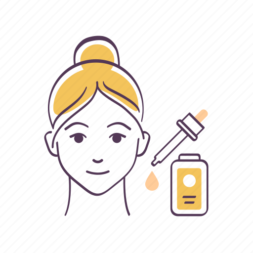 Avatar, emoticon, face, serum, sketch, skin care, woman icon - Download on Iconfinder