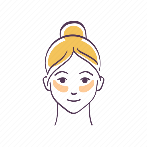 Avatar, eyes, patches, sketch, skin care, under, woman icon - Download on Iconfinder