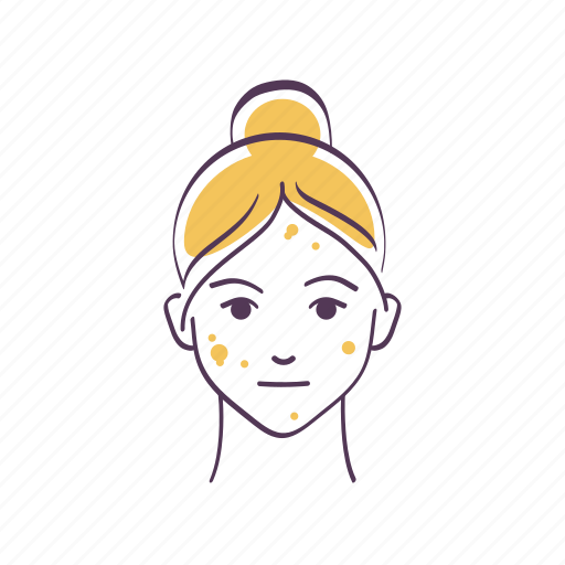 Avatar, care, problem, problem skin, sketch, skin care, woman icon - Download on Iconfinder