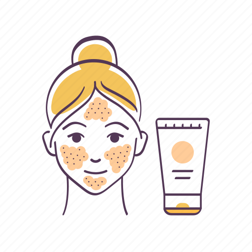 Avatar, cosmetic product, scrubbing, sketch, skin care, woman icon - Download on Iconfinder