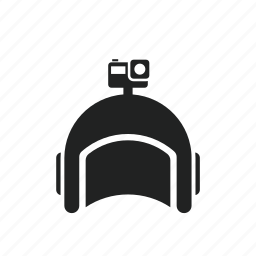 action cam, diving, equipment, flying, gopro, helmet, sky icon