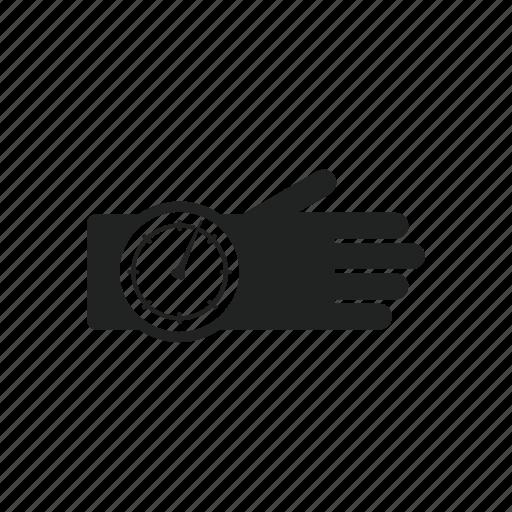 altimeter, diving, equipment, flying, gloves, hand, sky icon
