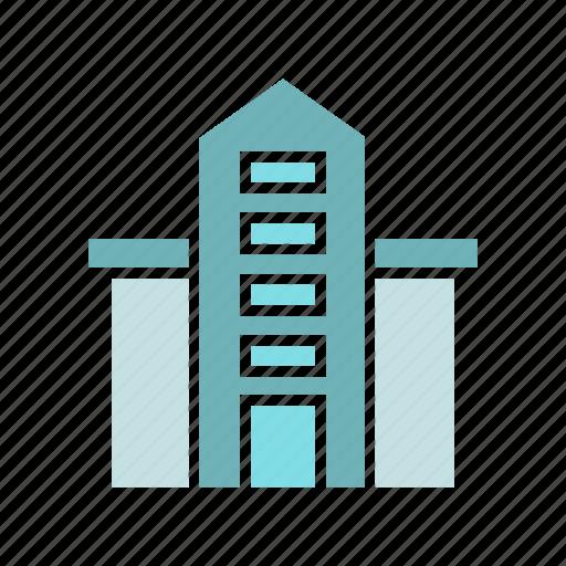 building, city, downtown, real estate, school, skyscraper, tower icon