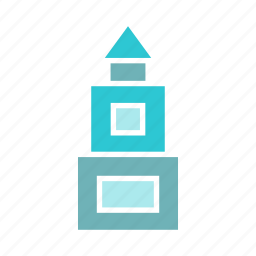 building, castle, downtown, palace, real estate, skyscraper, tower icon