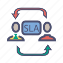 agreement, customer, level, provider, service, service level agreement, sla icon