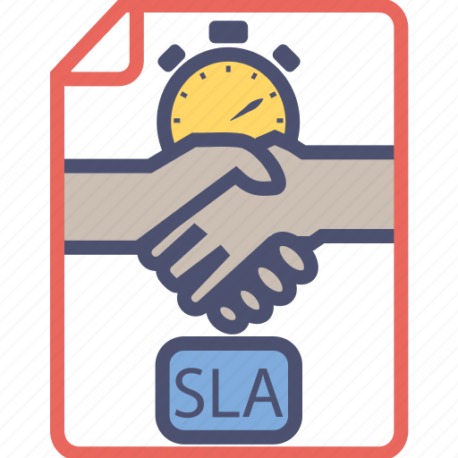 agreement contract deal document level service sla icon