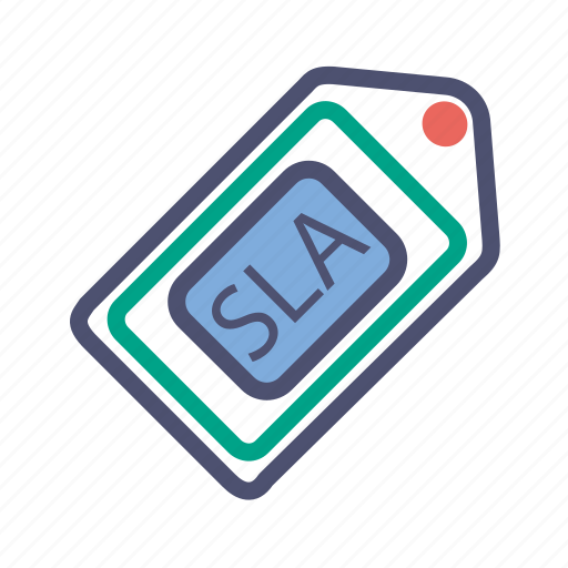 agreement, level, resolution, service, sla, ticket, time icon