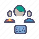 agreement, level, resolution, response, service, sla, time icon