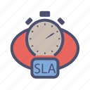 agreement, customer, level, provider, service, sla, time icon