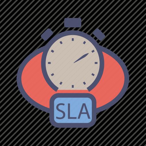 agreement, customer, level, provider, service, sla, time icon