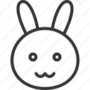 animal, animals, bunny, cute, face, pet, wild icon