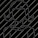 avatar, avatars, hair, lady, long, profile, user icon