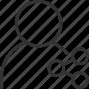 avatar, avatars, face, profile, share, user icon