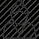 avatar, avatars, face, profile, user, woman icon