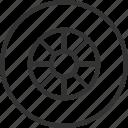 auto, car, tire, transport, travel, vehicle icon