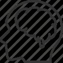 anatomy, avatar, brain, head, human, person, user icon