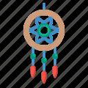 adornment, decoration, dreamcatcher, ornamental, sleeping icon