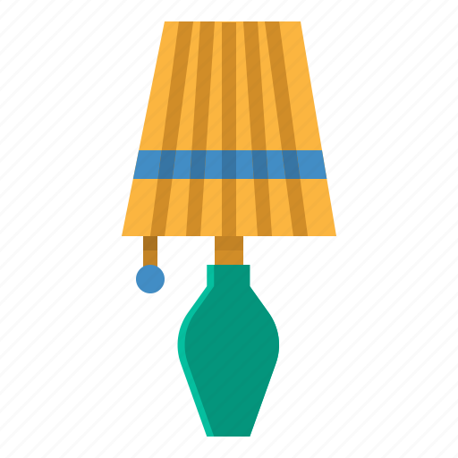 bed, bedroom, electronics, lamp, light icon