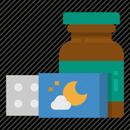 healthcare, medical, medicine, pill, sleeping icon