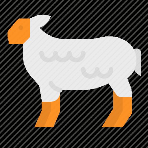animals, farm, farming, mammals, sheep icon