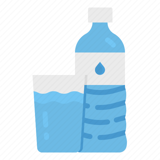 bottles, drinking, drinks, plastic, water icon