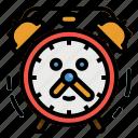 alarm, clock, date, time, timer