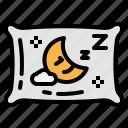 pillow, relax, sleep, sleeping, zzz icon