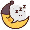 crescent, moon, relax, sleep, night