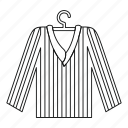 cloth, clothing, fashion, line, outline, pajama, thin icon