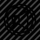 dynamic, round, strikethrough icon