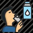 child, drink, healthy, milk, water icon