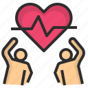 exercise, fitness, health, heart, rate icon