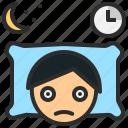 insomnia, nightmare, sleepless, stress, worry icon