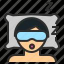 doze, mask, rest, sleep, sleepy icon
