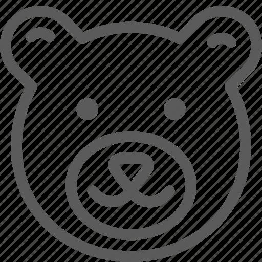 animal, bear, beast, nature, pet, wild icon