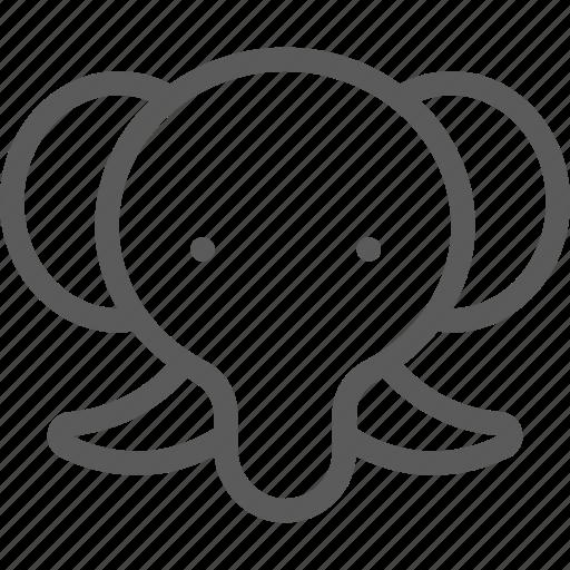 animal, beast, elephant, nature, pet, wild icon