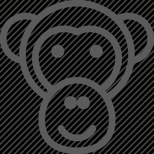 animal, beast, monkey, nature, pet, wild icon
