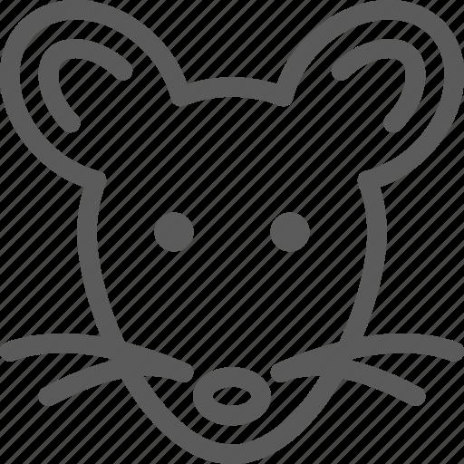 animal, beast, mouse, nature, pet, wild icon