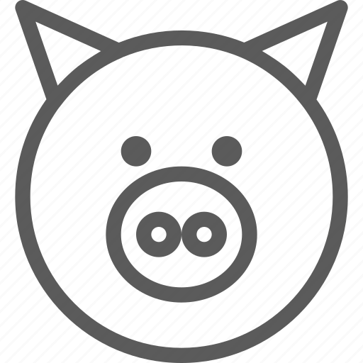 animal, beast, nature, pet, pig, wild icon