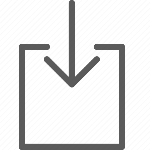 arrows, badge, box, indication, inside, interface, sign icon