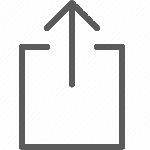 arrows, badge, box, indication, interface, outside, sign icon