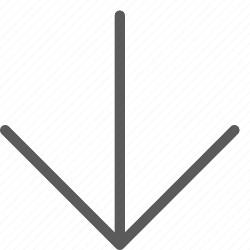 arrows, badge, down, indication, interface, line, sign icon