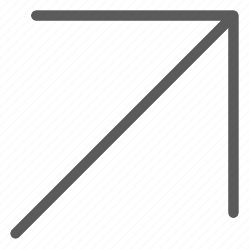 arrows, badge, corner, indication, interface, line, sign icon
