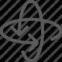 atom, badge, indication, interface, sign icon