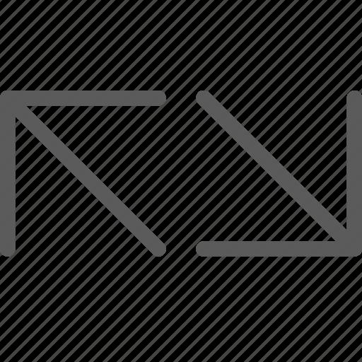 badge, diagonal, indication, interface, line, sign icon